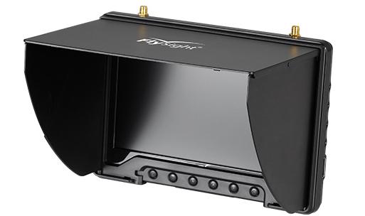 """Rechargeable LCD écran 7/"""" 40CH 5.8 G FPV Double Récepteur Moniteur avec DVR Fonction"""